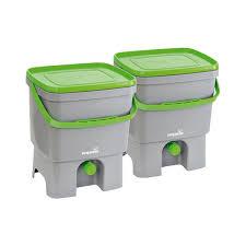 compost cuisine poubelle à compost bokashi organico 16l lot de 2 19750031