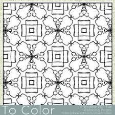 geometric mandala pattern printable coloring