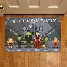 personalized spooky family halloween doormat walmart com