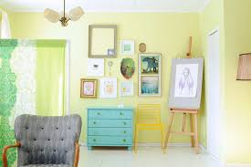 Shabby Chic Blue Paint by Yellow Green Paint With Tufted Upholstery Living Room Shabby Chic