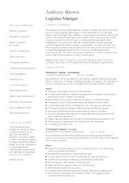 logistics operations manager resume example pdf supply chain