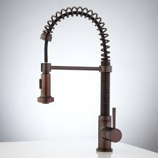 brushed bronze kitchen faucet rubbed bronze brushed kitchen faucet wide spread single handle