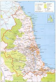 Maps Of England by Map Of North East England