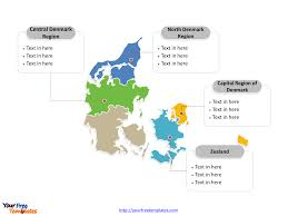 Europe Map Labeled by Free Denmark Powerpoint Map Free Powerpoint Templates
