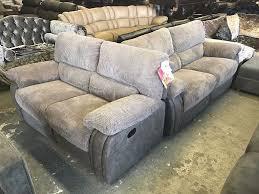 2 Seater Sofa Recliner by Harveys Arlington Grey Cord Fabric Recliner 3 And 2 Seater Sofa