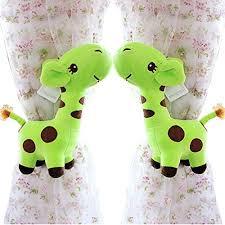raffhalter kinderzimmer de 2 stück niedliche giraffen vorhang raffhalter