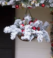 christmas hanging baskets with lights fairfax lighted decorated holiday hanging basket holiday