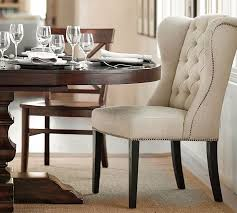 Dining Room Chairs Clearance Thayer Tufted Wingback Dining Chair Pottery Barn