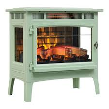 duraflame 3d pistachio infrared electric fireplace stove with