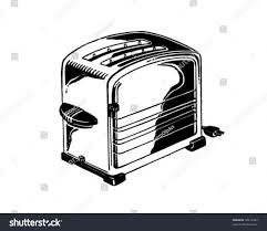Toaster Retro Chrome Toaster Retro Clip Art Stock Vector 58213342 Shutterstock
