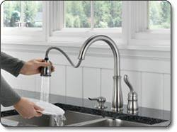 Kitchen Faucet Soap Dispenser Delta 978 Sd Dst Leland Single Handle Kitchen Faucet With Pull