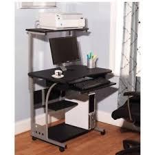 Movable Computer Desk Sturdy Mobile Computer Table Desk With Printer Shelf New Ebay