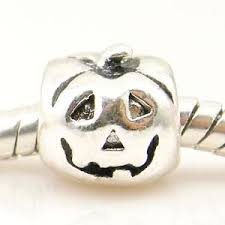 silver bead pumpkin halloween charm fits pandora all things luxury
