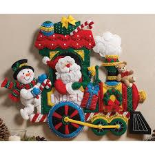 bucilla felt kits bucilla christmas toys wreath felt applique kit co uk