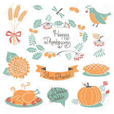 free happy thanksgiving happy thanksgiving set of elements for design vector illustration