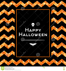 Halloween Glitter Graphics by Happy Halloween Greeting Card With Traditional Elements Stock