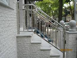 front porch metal stair railing