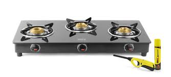 3 Burner Glass Cooktop Ideale Trego 3 Burner Glass Manual Gas Stove Price In India Buy