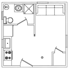 one bedroom cabin floor plans options
