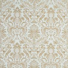 ivory upholstery fabric light blue ivory green gold pineapple damask upholstery fabric by