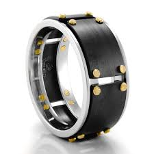 metal stone rings images Heavy stone williams black cobalt chrome ring 10mm png