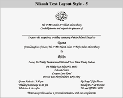 Muslim Wedding Card Muslim Wedding Invitation Wording Vertabox Com