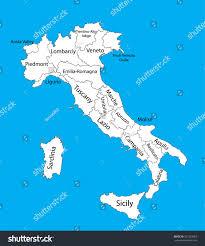Map Of Sardinia Italy by Editable Blank Vector Map Italy Vector Stock Vector 331283963
