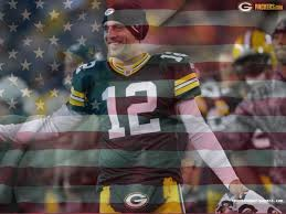 Green Bay Packer Flag Aaron Rodgers Qb Green Bay Packers Nfl On Usa Flag Wavy Canvas