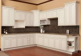 Antique Kitchen Design by Antique White Kitchen Cabinets With Dark Wood Floors Cherry