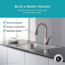 kitchen combos stainless steel 25 x 22 drop in kitchen sink