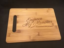 personalized engraved cutting board engraved cutting board for kitchen personalized gifts