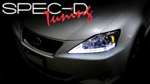 lexus is 250 custom black specdtuning installation video 2006 2009 lexus is250 led