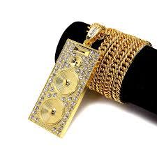 aliexpress buy nyuk new fashion american style gold nyuk 2016 chain hip hop loudspeaker shape costume jewelry