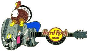 rock cafe guitar pins new york city usa