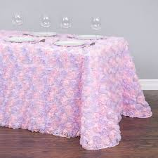 purple tulle x 132 in rectangular chiffon rosette tulle tablecloth purple and pink