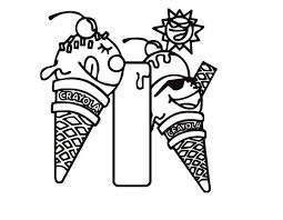 learning letter i for ice cream coloring page best place to color