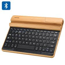 bluetooth keyboard android seendda universal bamboo bluetooth keyboard and holder wireless