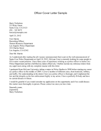 resume cove cover letter samples for law enforcement