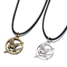 leather necklace pendant images Wholesale black real leather cord choker hunger games necklace jpg