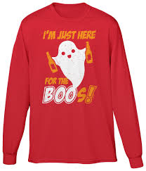 funny halloween t shirts im just here for the boos halloween joke funny beer pun drink