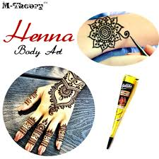 ladies fashion mehndi henna paste cone temporary tattoo makeup