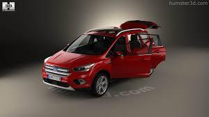 Ford Escape Interior - 360 view of ford escape titanium with hq interior 2017 3d model