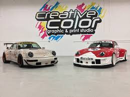 porsche vinyl custom graphic wraps creative color minneapolis minnesota