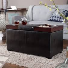Leather Coffee Table Storage Cocktail Ottoman Coffee Table Mtc Home Design Sophisticated