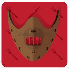 Hannibal Halloween Mask Vector Image 1413582 Stockunlimited