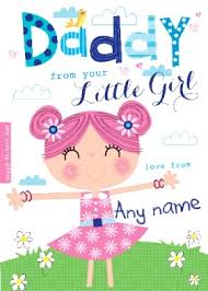 personalised card daddy from your little some of my
