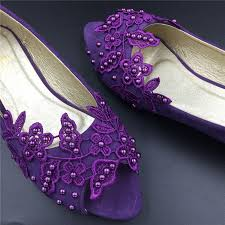 wedding shoes purple purple peep toe crystals wedding shoes bridal ballet shoes purple