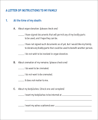 template wills 11 letter of templaes free sle exle format