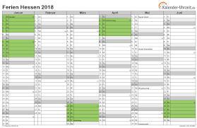 Kalender 2018 Hessen Ausdrucken Ferien Hessen 2018 Ferienkalender Zum Ausdrucken