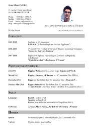 Samples Of Cv English Resume Sample